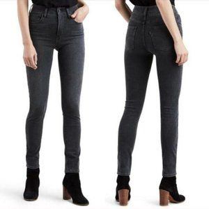 Levi's 721 High Rise Skinny  Gray Jeans Sz 28